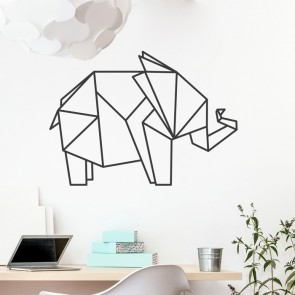 Wandtattoo Origami Elefant