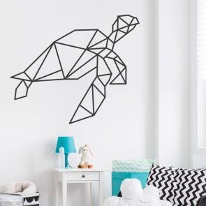 Wandtattoo Origami Schildkröte