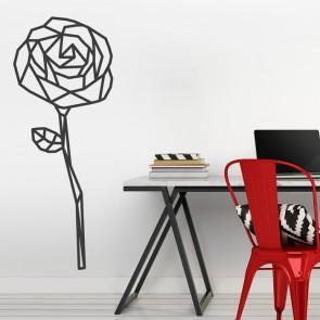 Wandtattoo Origami Rose