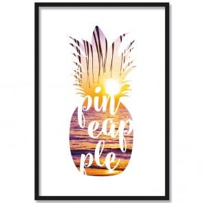 Poster Pineapple Sunset
