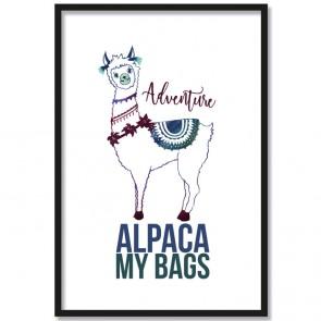 adventure alpaca poster
