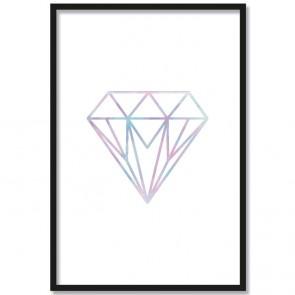 poster diamant watercolour