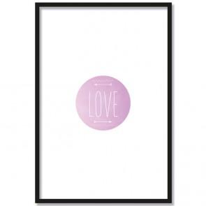 Poster Rahmen Love Liebe