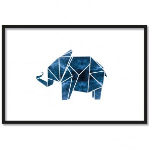elefant origami poster