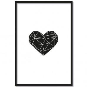 herz origami poster