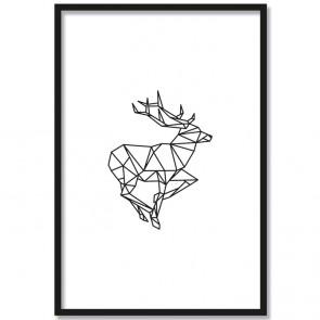 hirsch origami poster