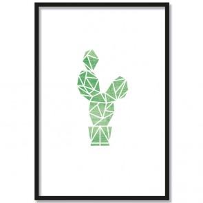 kaktus origami poster