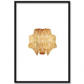 löwe origami poster