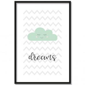 dreams wolke mint poster