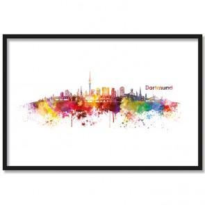 Poster Skyline Dortmund Aquarell