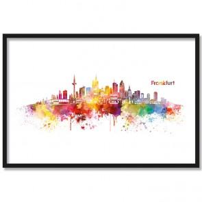Poster Skyline Frankfurt Aquarell