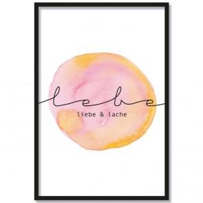 Poster lebe liebe & lache