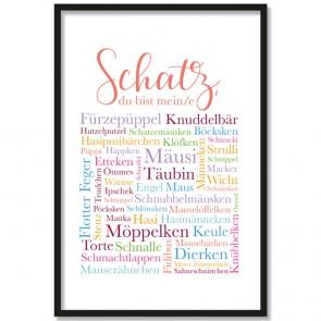 Poster Textcloud Liebe