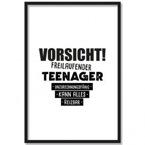 Poster Vorsicht! Freilaufender Teenager...