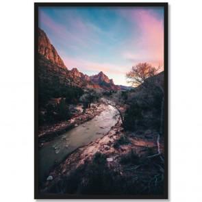 Poster Felsen und Fluss