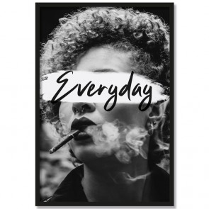 Poster Porträt Everyday Schwarz Weiß