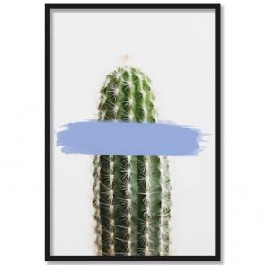 Poster Kaktus Blau