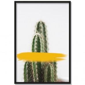 Poster Kaktus Gelb