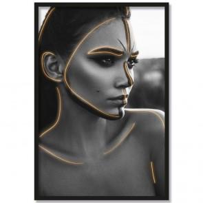 Poster Porträt Kriegerin
