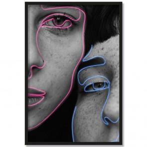 Poster Porträt zwei Mädchen