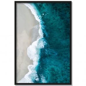 Poster Meeresstrand Rahmen