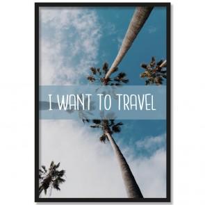 Poster Travel im Rahmen