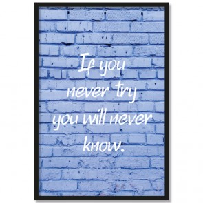 Poster If you never try you will never know.