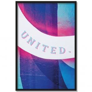 Poster United mit Bilderrahmen