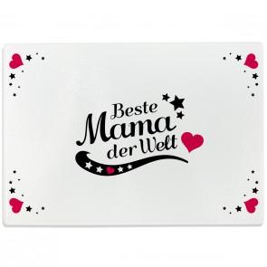 Glasschneidebrett Beste Mama der Welt Motiv 4