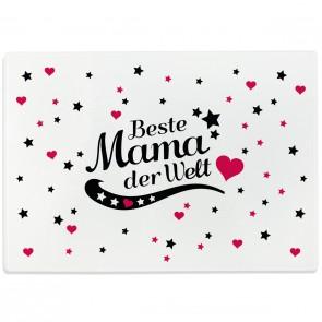 Glasschneidebrett Beste Mama der Welt Motiv 6