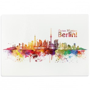 Glasschneidebrett Aquarell Skyline Berlin