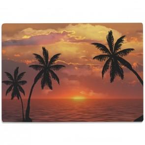 Glasschneidebrett Sonnenuntergang mit Palmen