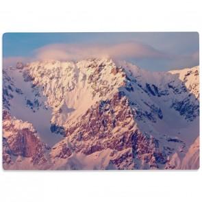 Glasschneidebrett Alpen