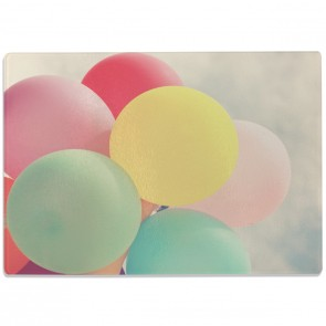 Glasschneidebrett Luftballons