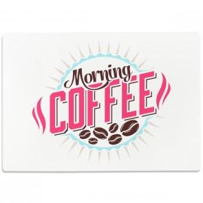 Glasschneidebrett Morning Coffee