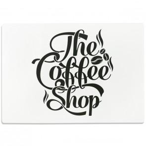 Glasschneidebrett The Coffee Shop