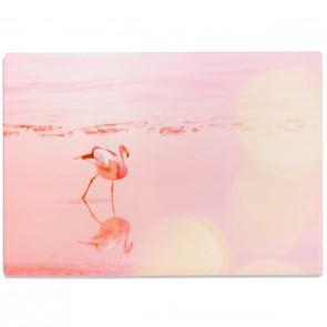 Glasschneidebrett Lonely Flamingo