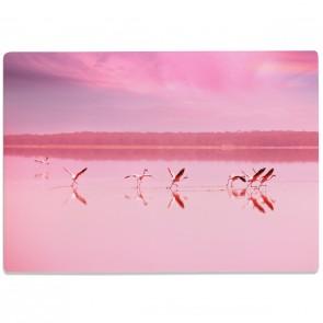 Glasschneidebrett Flamingos
