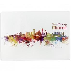 Glasschneidebrett Skyline Miami