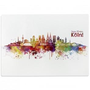 Glasschneidebrett Skyline Köln