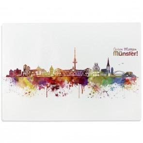 Glasschneidebrett Skyline Münster