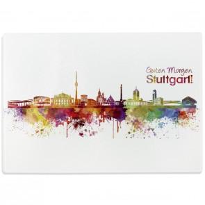 Glasschneidebrett Skyline Stuttgart