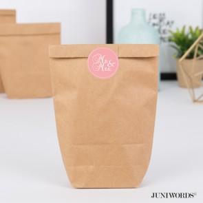 """Geschenktüten mit Aufklebern """"Mr. & Mrs."""" - rosa"""
