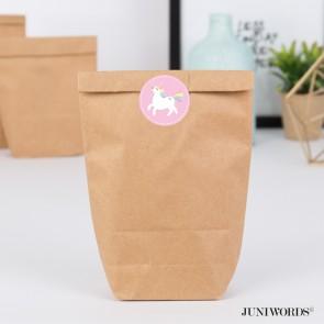 """Geschenktüten mit Aufklebern """"Einhorn"""" - rosa"""