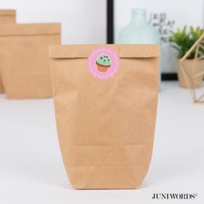 """Geschenktüten mit Aufklebern """"Cupcake"""" - rosa"""