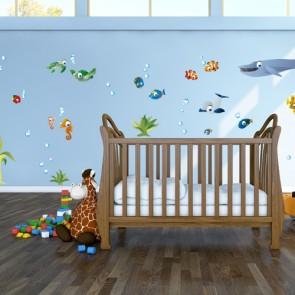 Wandsticker Set XL - Unterwasserwelt