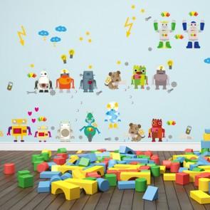 Wandsticker Mega Set - Roboter