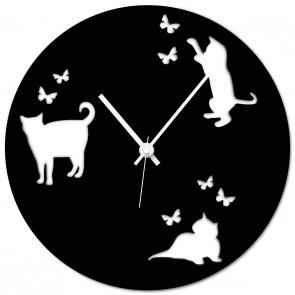 Wanduhr - Katzen