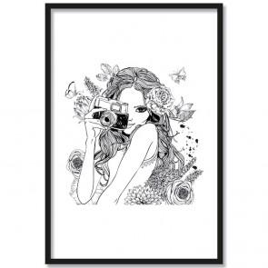Poster Line Art Alice