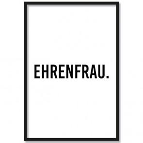 Poster Ehrenfrau.